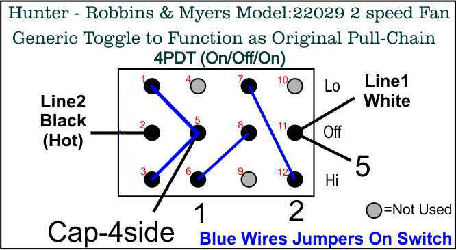 hunter robbins myers floor fan model 22029 wiring diagram post here is the 4pdt on off on toggle switch i used from about 5 same from usa about 10 here s how its wired